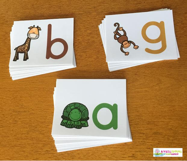 Tall, Small and Fall Letters Animal Letters