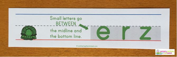 Small Letters Description - A Pocket Chart Card