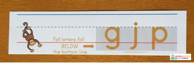 Fall Letters Description - A Pocket Chart Card