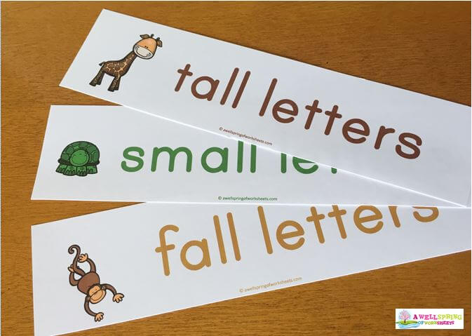 Tall, Small and Fall Letters Animals