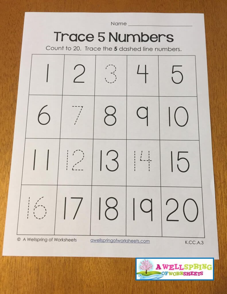 trace 5 numbers