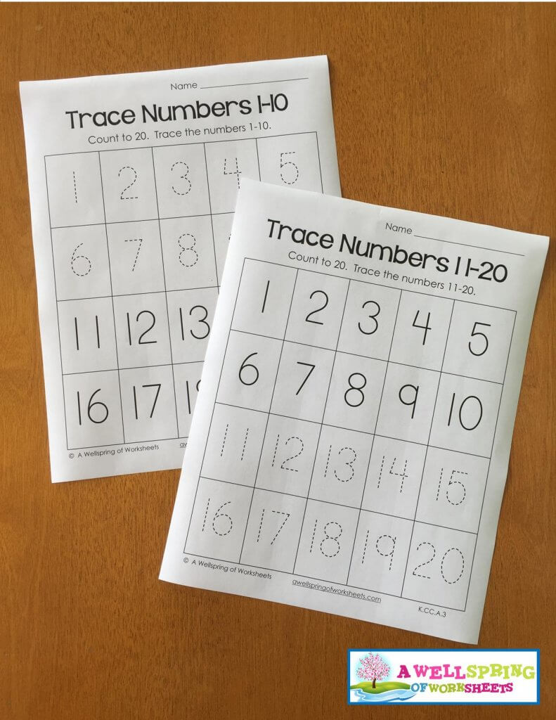 trace numbers 1-20 - 1-10, 11-20