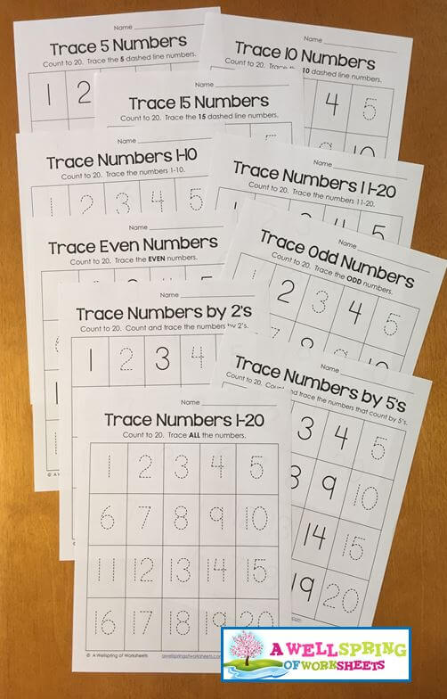 Tracing Numbers 1 20 Worksheets Blog Post A Wellspring Of Worksheets