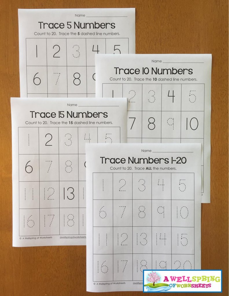 trace numbers 1-20 - tracing for differentiated learners