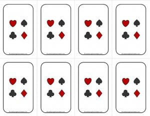 Number Cards 1-20 - Math Cards Games - Deck of Cards Backing #2