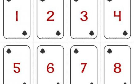 Number Cards 1-20 - Deck of Cards - Numbers/Clubs - Math Card Games