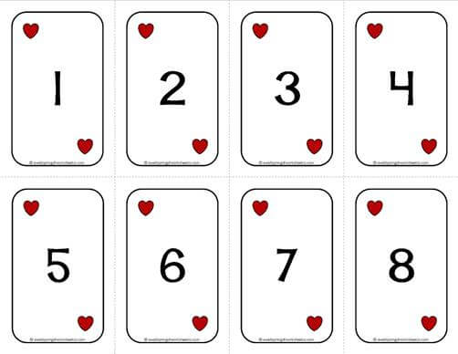 photograph relating to Printable Number Cards 1 20 identified as Selection Playing cards 1-20 Deck of Playing cards - Figures Deck A Wellspring
