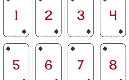 Number Cards 1-20 - Deck of Cards - Numbers/Spades - Math Card Games