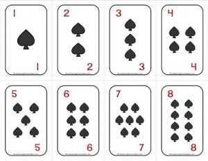 Number Cards 1-20 - Deck of Cards - Spades/Numbers - Math Card Games