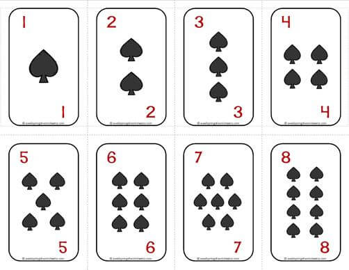 numbers cards 1 20 deck of cards spades with numbers a wellspring. Black Bedroom Furniture Sets. Home Design Ideas