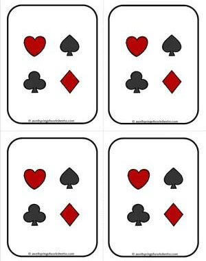 Number Cards 1-20 - Playing Cards - Backing 1 - Math Card Games