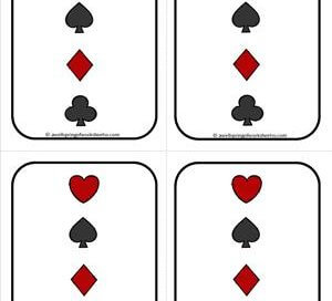 Number Cards 1-20 - Playing Cards - Backing 2 - Math Card Games