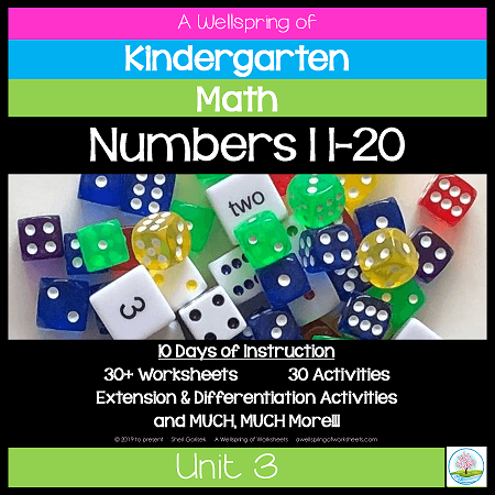 Kindergarten Math Curriculum | Numbers 11-20 | Unit 3
