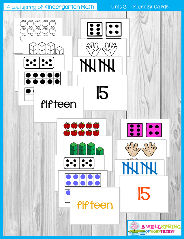 Kindergarten Math Curriculum | Numbers 11-20 | Fluency Cards