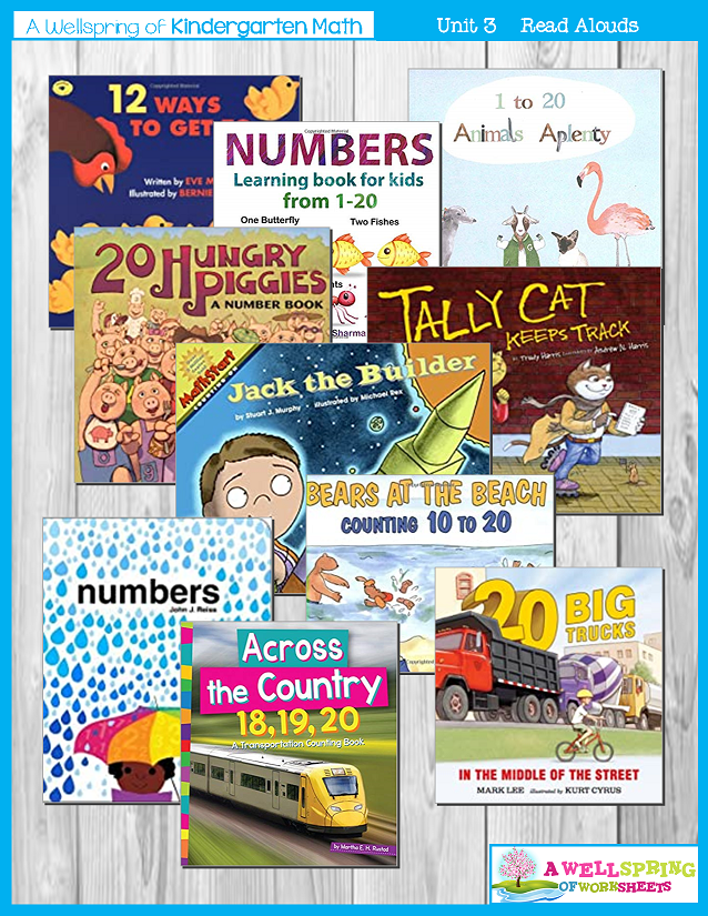 Kindergarten Math Curriculum| Numbers 11-20 | Suggested Reading