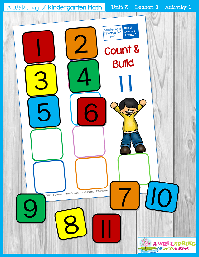 Kindergarten Math Curriculum | Numbers 11-20 | Lesson 1 - Activity 1