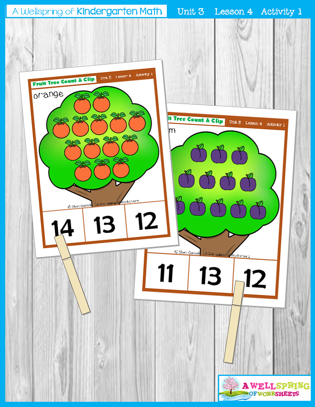 Kindergarten math Curriculum | Numbers 11-20 | Lesson 4 - Activity 1