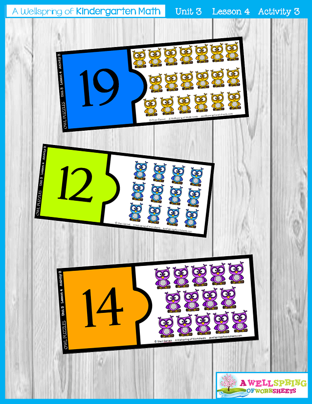 Kindergarten Math Curriculum | Numbers 11-20 | Lesson 4 - Activity 3