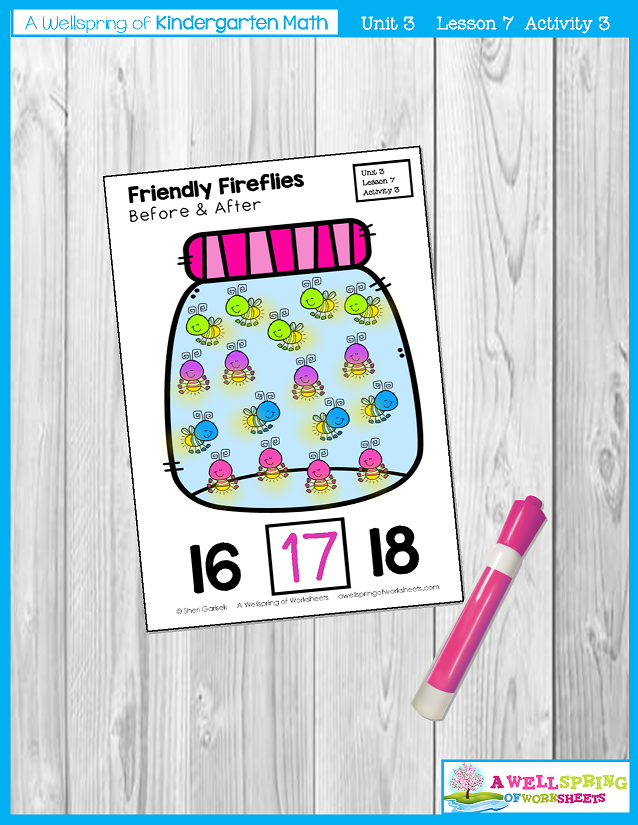 Kindergarten Math Curriculum | Numbers 11-20 | Lesson 7 - Activity 3