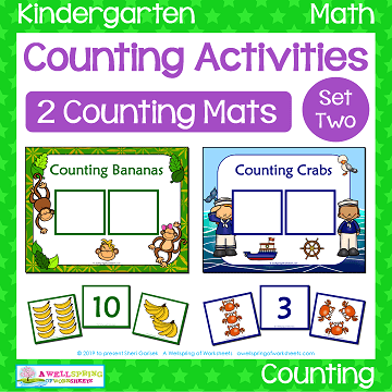 Counting Activities | Counting Mats - Set Two