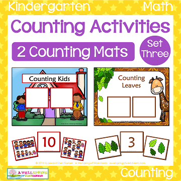 Counting Activities - Counting Mats - Set Three