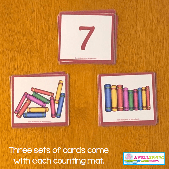 Counting Activities | Counting Mats | Three Sets of Cards