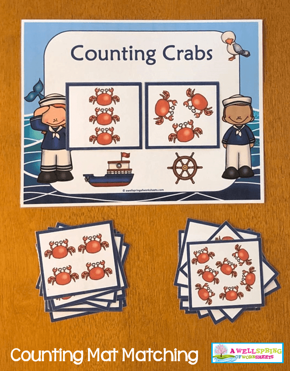 Counting Activities | Counting Mats | Count and Match