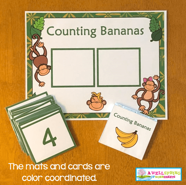 Counting Activities | Counting Mats | Color-Coordinated Mats