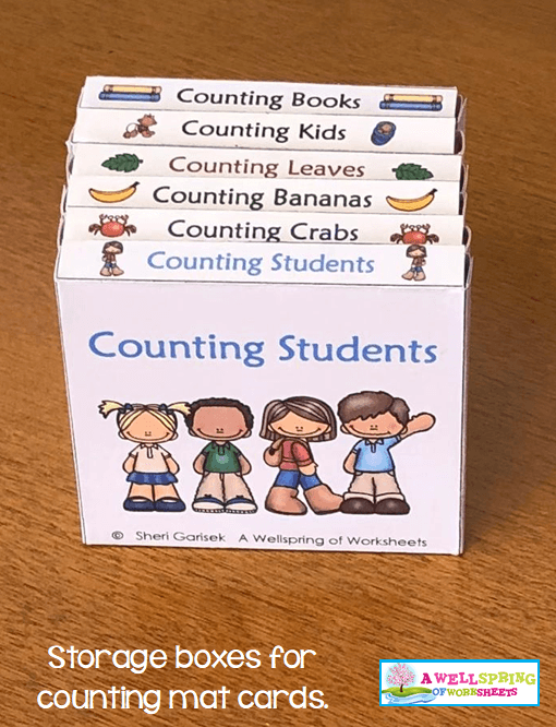 Counting Activities | Counting Mats | Storing the Cards