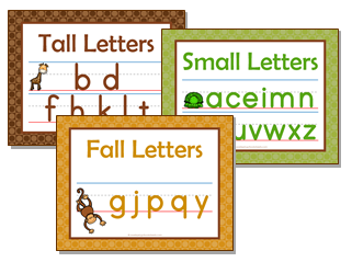Print Awareness - Tall Small Fall Letters