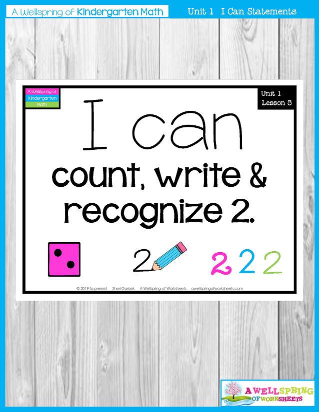Kindergarten Math Curriculum | Numbers 0-5 | I Can Statements