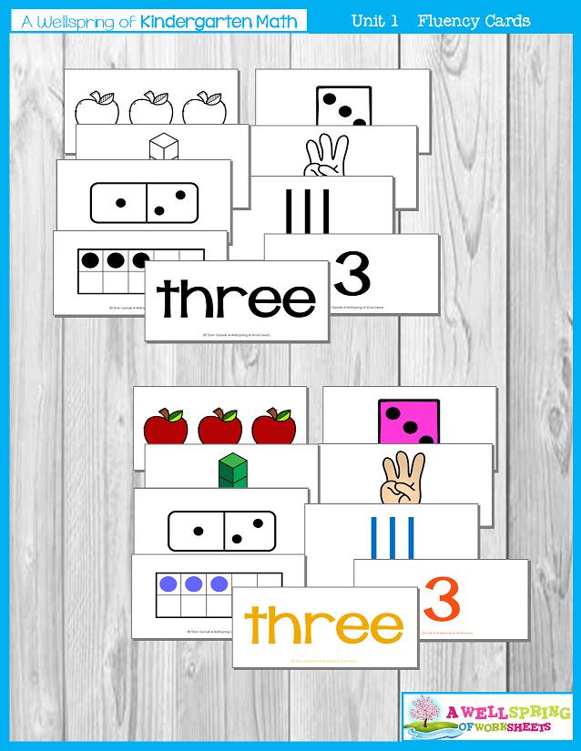 Kindergarten Math Curriculum | Numbers 0-5 | Fluency Cards