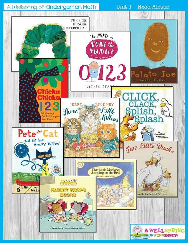 Kindergarten Math Curriculum | Numbers 0-5 | Suggested Reading