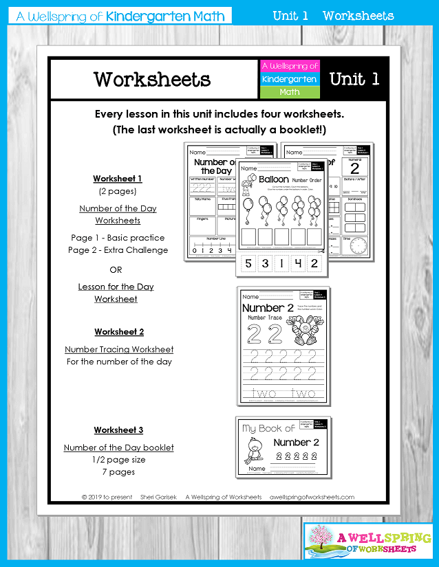 Kindergarten Math Curriculum | Numbers 0-5 | Worksheets
