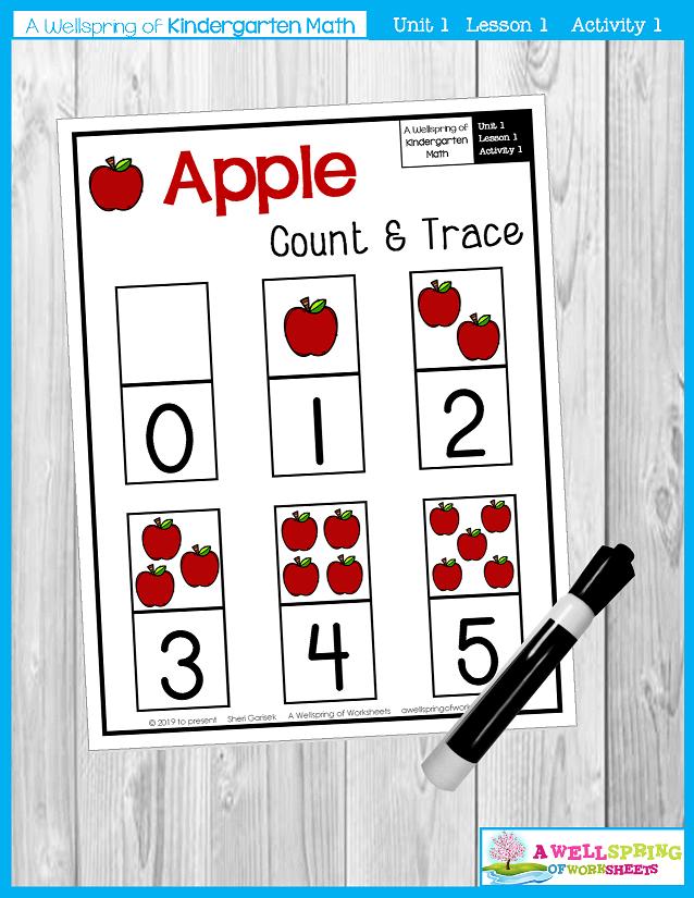 Kindergarten Math Curriculum | Numbers 0-5 | Lesson 1 - Activity 1