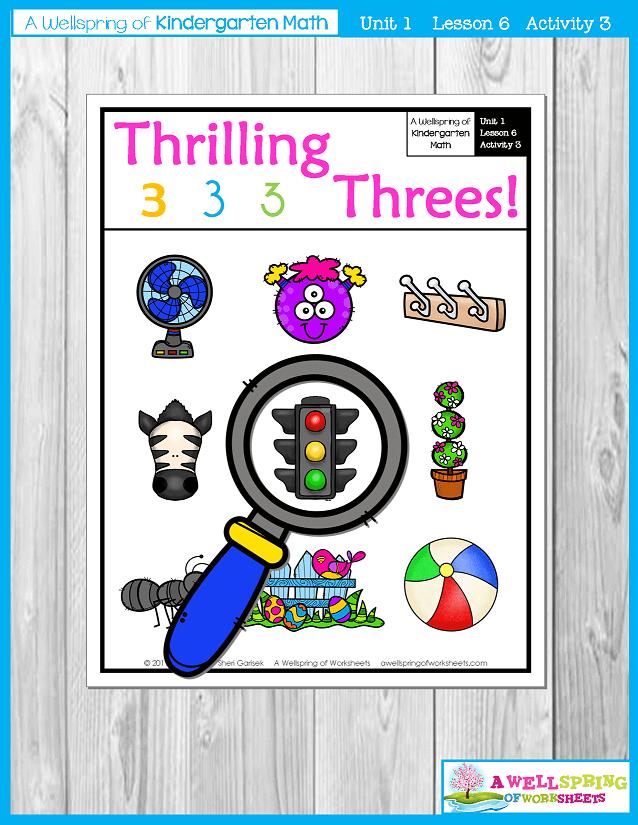 Kindergarten Math Curriculum | Numbers 0-5 | Lesson 6 - Activity 3