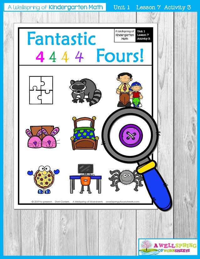 Kindergarten Math Curriculum | Numbers 0-5 | Lesson 7 - Activity 3