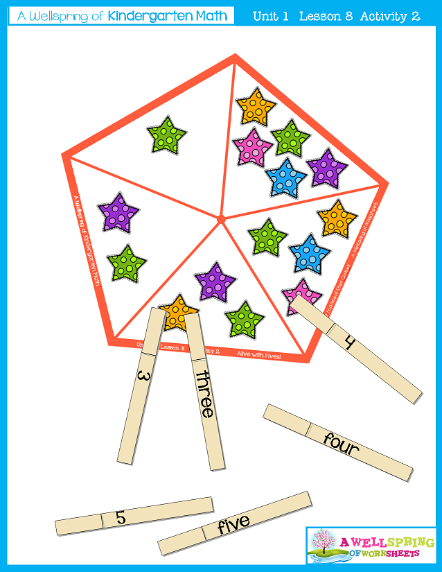 Kindergarten Math Curriculum | Numbers 0-5 | Lesson 8 - Activity 2