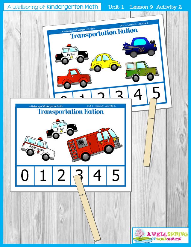 Kindergarten Math Curriculum | Numbers 0-5 | Lesson 9 - Activity 2