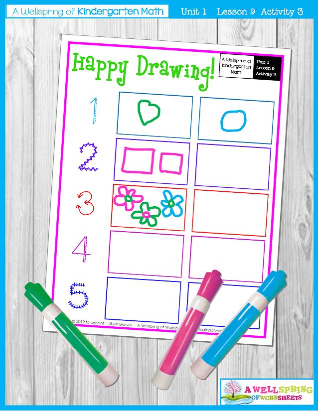 Kindergarten Math Curriculum | Numbers 0-5 | Lesson 9 - Activity 3