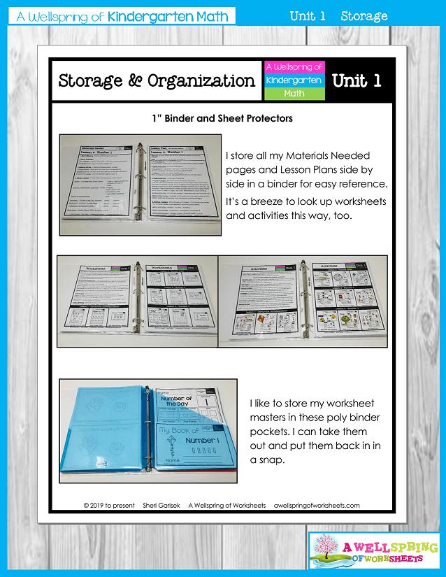 Kindergarten Math Curriculum | Numbers 0-5 | Storage