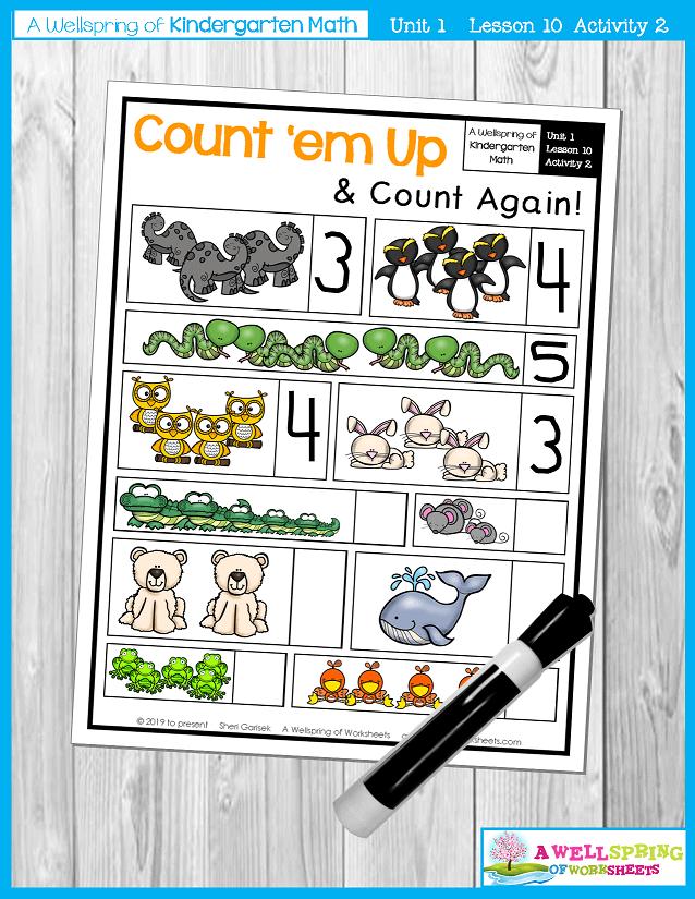 Kindergarten Math Curriculum | Numbers 0-5 | Lesson 10 - Activity 2
