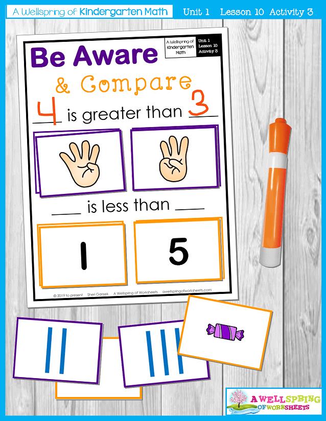 Kindergarten Math Curriculum | Numbers 0-5 | Lesson 10 - Activity 3