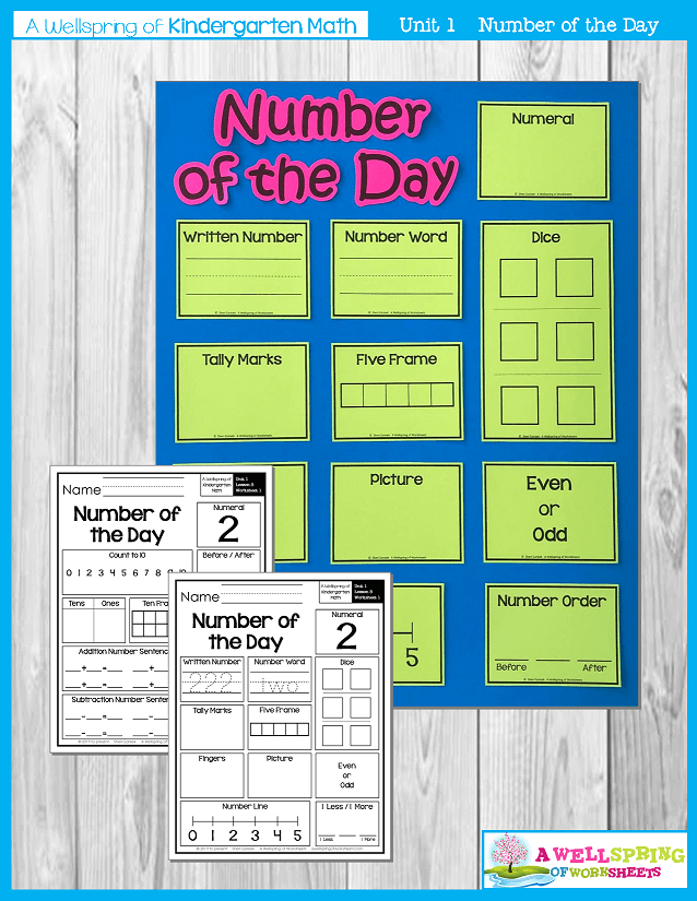 Kindergarten math Curriculum | Numbers 0-5 | Number of the Day