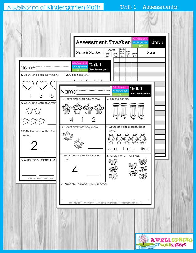 Kindergarten Math Curriculum | Numbers 0-5 | Assessments