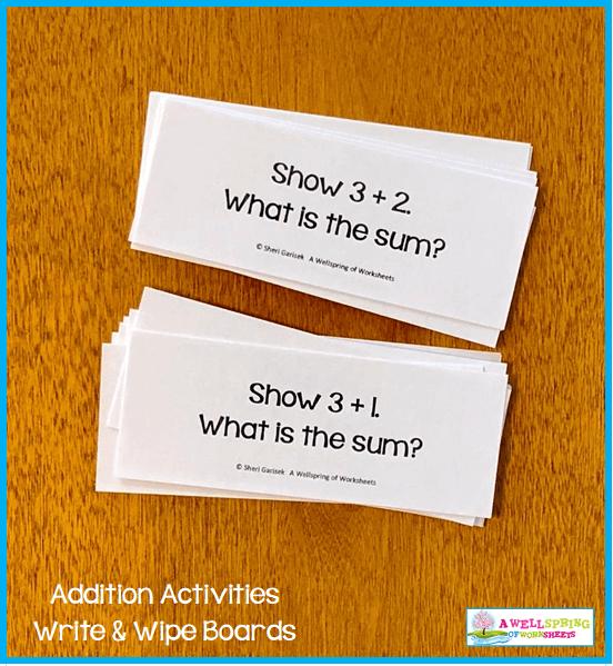 Kindergarten Addition Activities - What is the Sum Cards