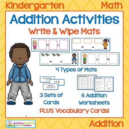 Kindergarten Addition Activities