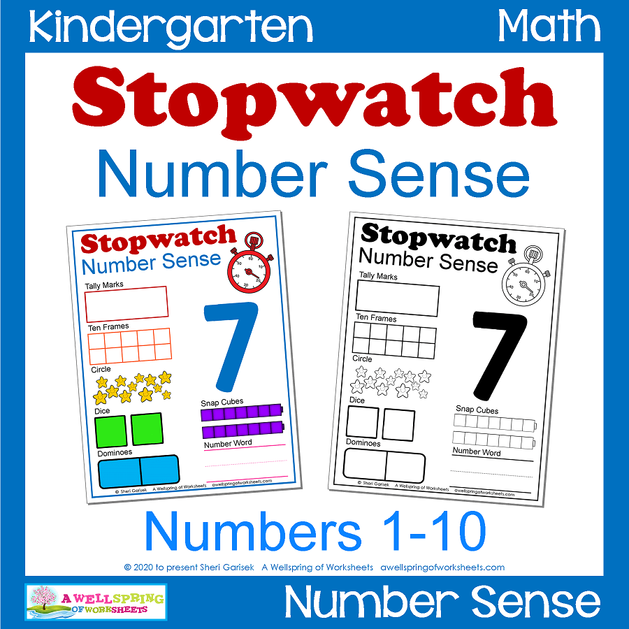 Number Sense - Stopwatch cover
