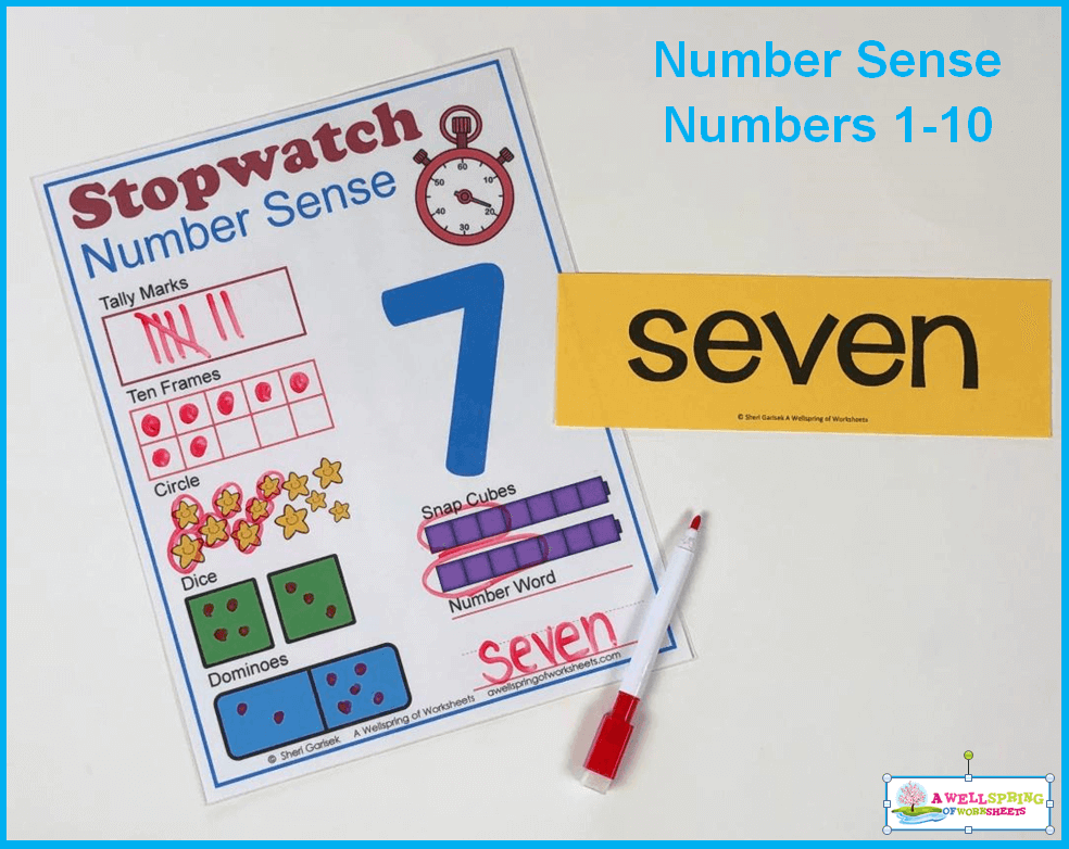 Stopwatch Number Sense - Use a Vocabulary Card if Needed