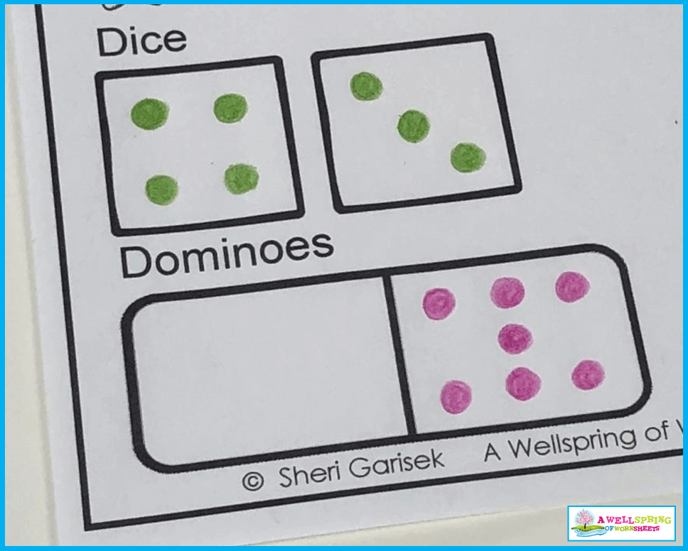 Stopwatch Number Sense - Have Kids come Up with Two Number Combinations for the Dice and Dominoes